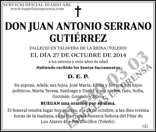 Juan Antonio Serrano Gutiérrez